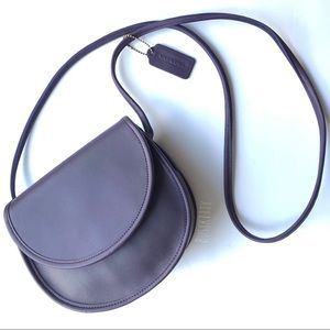 Restored Vintage Coach Purple Leather Casey Bag